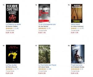 Dixième mois - Policier et Suspense 16 top 100